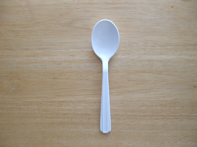 Soup Spoon - Heavy Weight - White - Click Image to Close