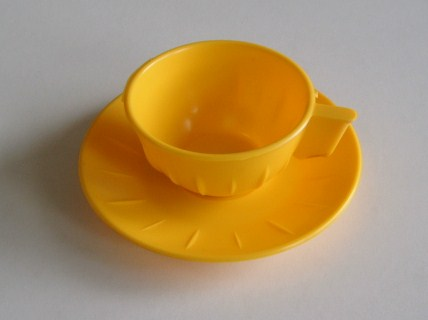 Mini Cup & Saucer - Yellow
