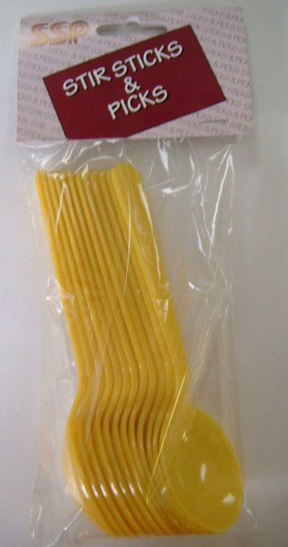 Soup Spoon - Heavy Weight - Yellow - 12 pack