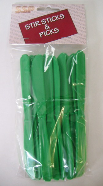 Knife - Green - Heavy Weight - 12 pack